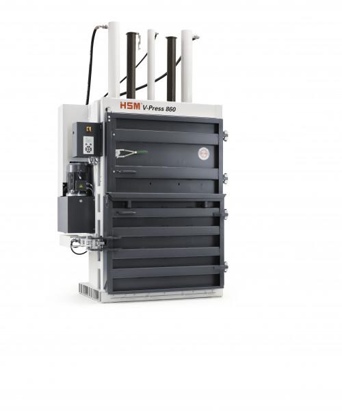 Vertikale Ballenpresse HSM V-Press 860 L