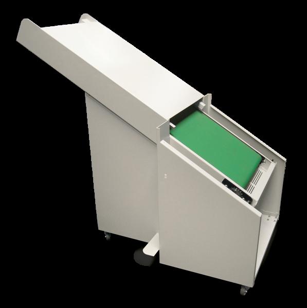 Discharge conveyor belt -